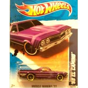 2011 Hot Wheels Muscle Mania 68 El Camino Purple #104/244