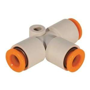 SMC KQ2T10 00 Union Tee,10mm,Tube,Polybutylene  Industrial