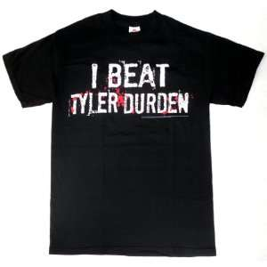 Fight Club I Beat Tyler Durden Black Mens T shirt (Large