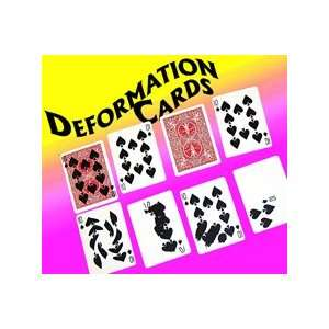 Deformation Cards Bicycle Poker Trick Close Up Magic