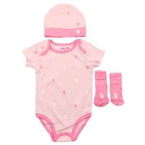 Assn. Girls Three Piece Set (0 9M)   colors as shown, 0 3mos Baby