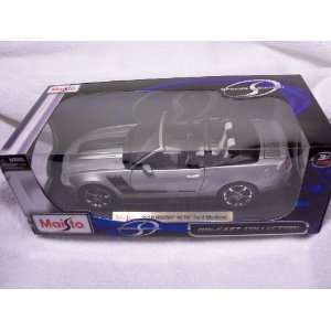 Scale Silver 2010 Roush 427R Ford Mustang (convertible) Toys & Games