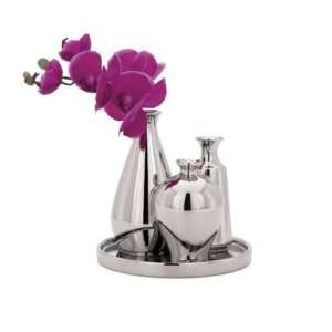Torre & Tagus Mia Mini Bud Chrome Vase Set
