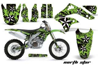 AMR RACING MOTORCROSS STICKER WRAP GRAPHIC DECAL KIT KAWASAKI KXF 450
