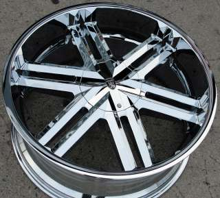 VON MAX VM03 22 CHROME RIMS WHEELS CHRYSLER 300 300C V6 V8