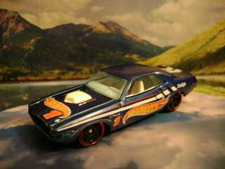 70 DODGE CHALLENGER 2012 HOT WHEELS RACING SERIES BLUE