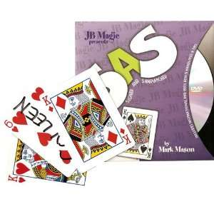 SAS   Signed and Sandwiched Card Magic Trick Toys & Games