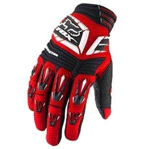 Fox Racing Pawtector Gloves   Small/Bright Red Automotive