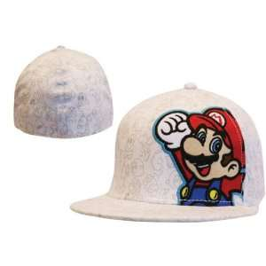 Super Mario Bros. casquette Wide Bill Mario White Toys & Games