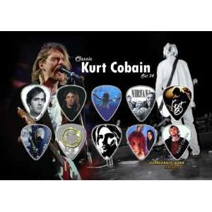 Kurt Cobain Nirvana Premium Celluloid Guitar Picks Display
