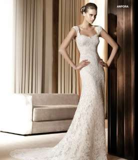 2012 Luxury Off Shoulder Lace Bridal Wedding Gown Formal Evening
