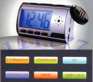 Mini Digital USB Alarm Clock Video DVR Hidden/SPY/Nanny Camera DV 1280