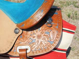WESTERN BARREL RACING TRAIL PLEASURE SADDLE WITH BRIDLE BREAS TCOLLAR