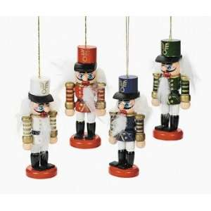 Lot of 12 Wooden Nutcracker Christmas Tree Ornaments