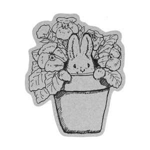 Penny Black Cling Rubber Stamp 4X5.25 Pansy Bunny