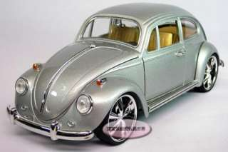 New Volkswagen Beetle Wecker 118 Alloy Diecast Model Car Silver B117c