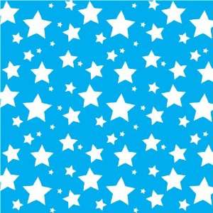 STARS AQUA BLUE & WHITE PATTERN Vinyl Decals 3 Sheets 12x12 Cricut