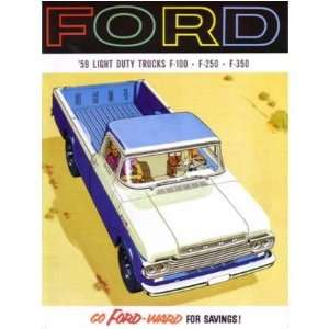 1959 FORD LIGHT DUTY TRUCK Sales Brochure Book Automotive