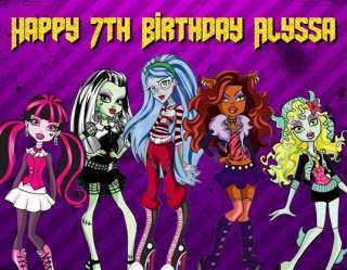 Monster High Edible Icing Image Birthday Cake Topper 4