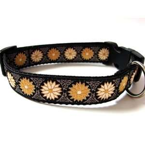 Luxury Gold Flower 1 Unique Dog Collar