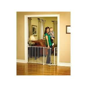 Regalo Maxi Super Wide Walk Thru Gate, White Baby