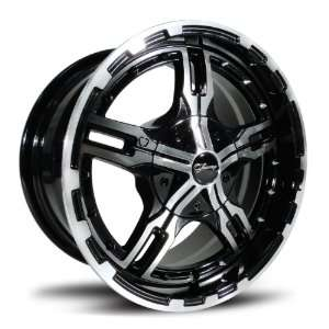 Fairway Alloys FA128 Epic Machined Black Golf Cart Wheel