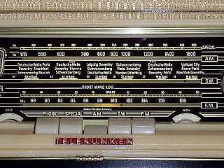 Antique Radio, 1956 Telefunken Short Wave, Tube Radio