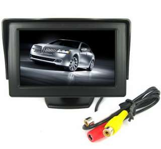 Color TFT LCD Car Reverse Rear View Color Monitor Camera DVD VCR