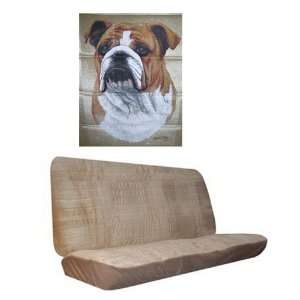 Car Truck SUV Bulldog Dog Print Rear Bench or Small Truck Seat Covers