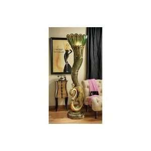 70 ART DECO PEACOCK SCULPTURED FLOOR LAMP