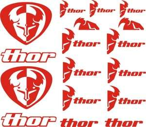 set of 15 thor racing logo vinyl decal sticker you pick color