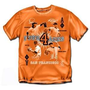 BSS   San Francisco Giants MLB Four Aces Mens Tee (Orange