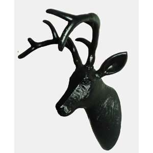 the Black Deer   Stag Head   Wall Mount Trophy Gift