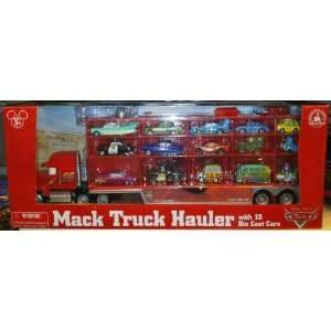 Disney Parks Pixar Cars Mack Semi Truck with 15 Diecast Cars (Disney