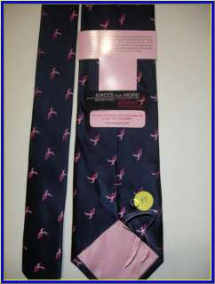 NEW BREAST CANCER KNOTS OF HOPE CURE LOGO SILK TIE
