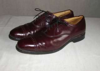 VERY NICE MENS ALLEN EDMONDS CAP TOE OXFORDS SHOES 10 1/2 D