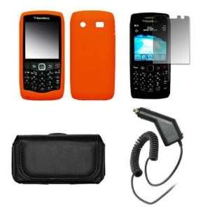 Blackberry Pearl 9100 Premium Black Leather Carrying