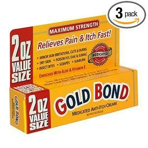 Gold Bond Medicated Anti Itch Cream, 2 Ounce Tubes (Pack