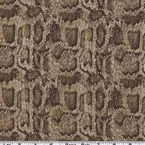45 Wide Safari Python Brown Fabric By The Yard Arts