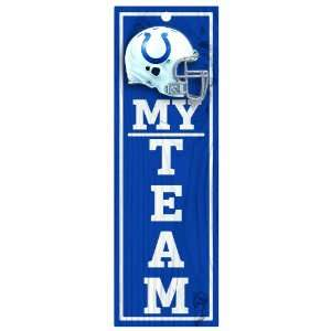 NFL Indianapolis Colts 4 by 13 Wood My Team Sign Sports