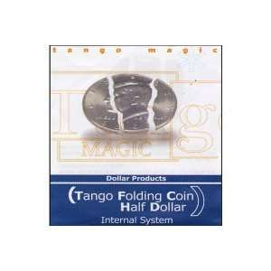Folding Coin Half Dollar (Internal System) by Tango Toys & Games