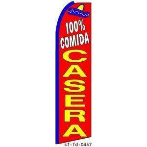 100% Comida Casera Extra Wide Swooper Feather Business