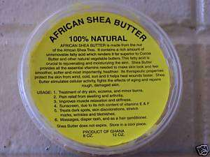 Shea Butter skin Sunscreen age stretch marks 8 oz. tub