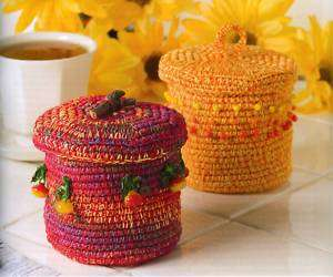 CROCHET PATTERNS HOME GIFT BOXES BOWLS
