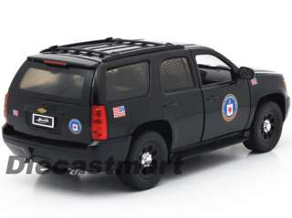 JADA 124 2010 CHEVY TAHOE CIA NEW DIECAST MODEL POLICE CAR BLACK