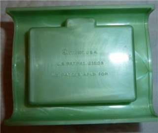 Vintage Art Deco Plastic Ring Box Display Case  Dennison,USA