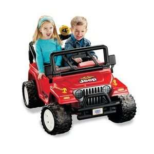 Fisher Price Power Wheels Jeep Wrangler   Red  Sports