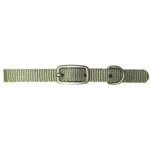 10 Inch Single Thick Nylon Deluxe Dog Collar, Sage Green