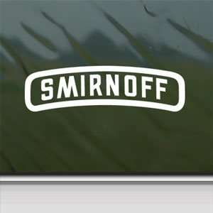 Smirnoff White Sticker Vintage Car Laptop Vinyl Window