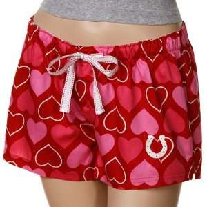 Reebok Indianapolis Colts Ladies Red Candy Hearts Boxer Shorts